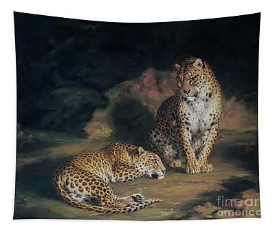 A Pair Of Leopards Tapestry