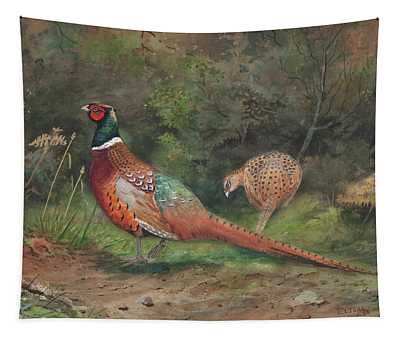 A Pair Of Pheasants Tapestry