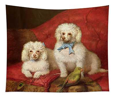 A Pair Of Poodles Tapestry