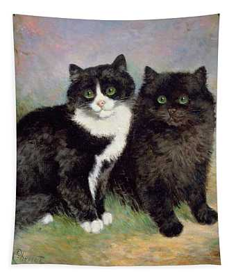 A Pair Of Pussy Cats Tapestry