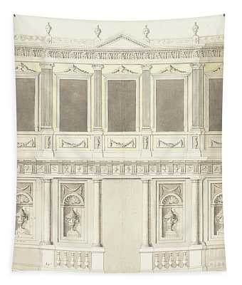 A Pavilion Elevation For The Sultana Hadige Palace At Defterdar Bournou Tapestry