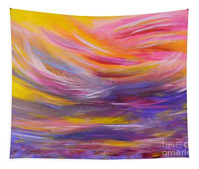 A Peaceful Heart - Abstract Painting Tapestry