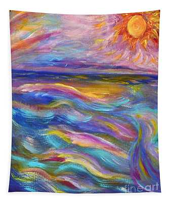 A Peaceful Mind - Abstract Painting Tapestry