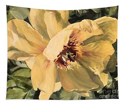 A Peony For Miggie Tapestry