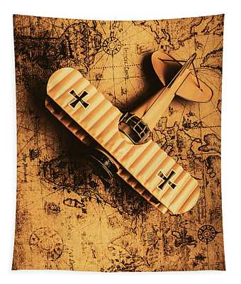 A Pilots Vintage Adventure  Tapestry