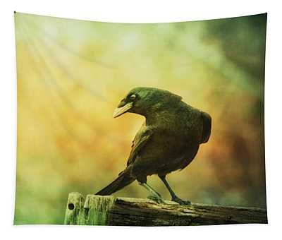 A Ravens Poise Tapestry