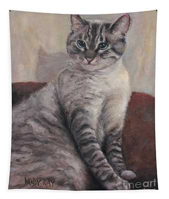 A Regal Pose Tapestry