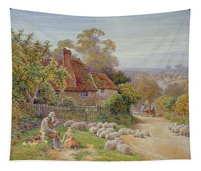 A Rest By The Way Tapestry