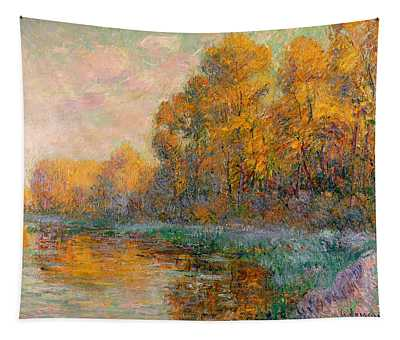 A River In Autumn Tapestry