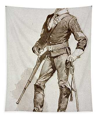 A Sergeant Of The Us Cavalry Tapestry