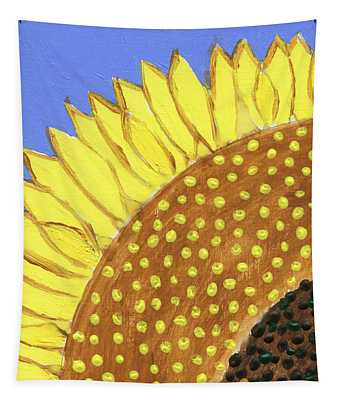 A Slice Of Sunflower Tapestry