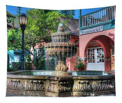A St. Augustine Water Fountain  Tapestry