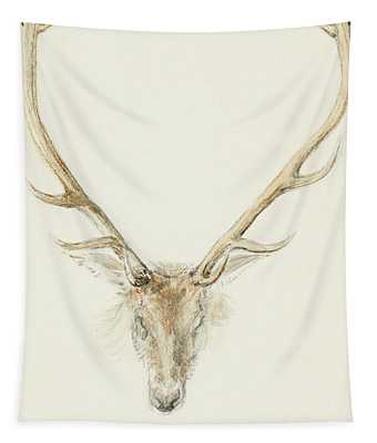 A Stag Shot By John Brown Tapestry