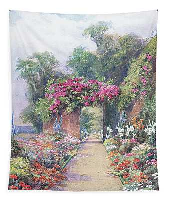 A Summer Evening, From The Gardens Of England Tapestry