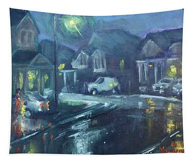 A Summer Rainy Night Tapestry