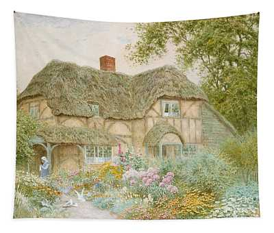 Thatched Roof Paintings Wall Tapestries
