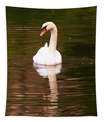 A Swan On A Summers Day Tapestry