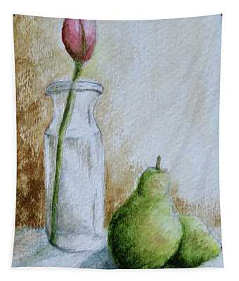 A Tulip And Two Pears Tapestry