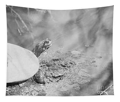A Turtle On A Log Tapestry