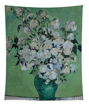 A Vase Of Roses Tapestry