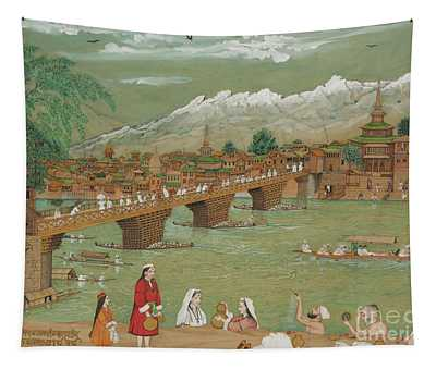 A View Of Srinagar, 1872 Tapestry