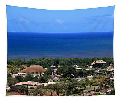 A View Of Waimea Town Tapestry