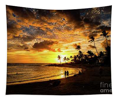 Tapestry featuring the photograph A Walk On The Beach by M G Whittingham