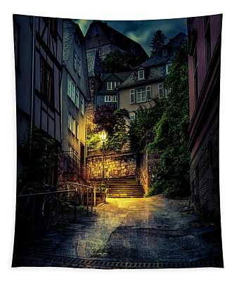 A Wet Evening In Marburg Tapestry