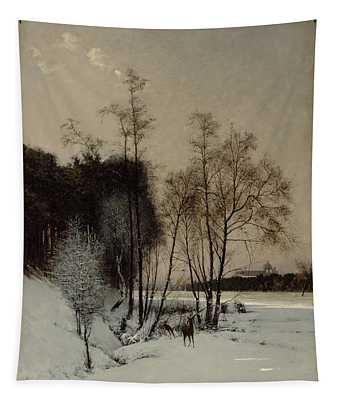 A Winter View In Posen Tapestry