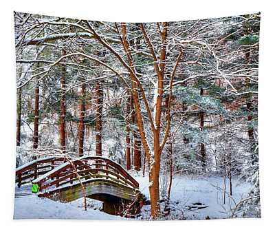 A Winters Painting Tapestry