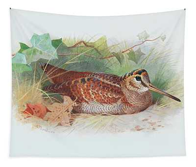 A Woodcock Resting Tapestry