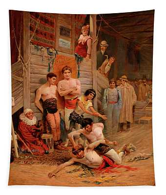 A Wrestling Match Tapestry