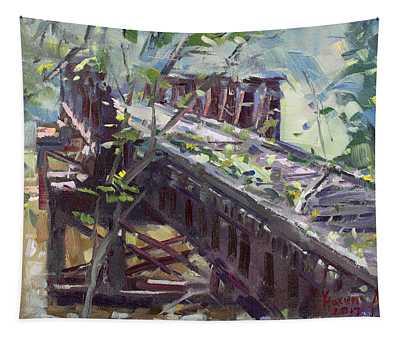 Abandoned Railroad Bridge In Tonawanda Tapestry