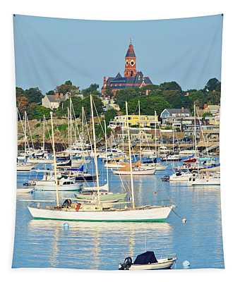 Abbot Hall Over Marblehead Harbor From Chandler Hovey Park Tapestry