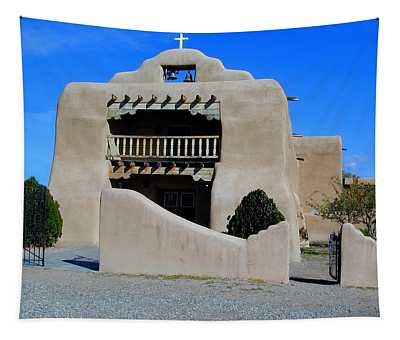 Tapestry featuring the photograph Abiquiu Church Number 1 by Joseph R Luciano