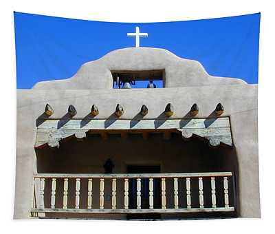 Tapestry featuring the photograph Abiquiu Church Number 2 by Joseph R Luciano