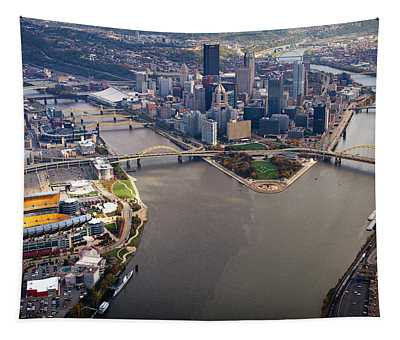 Above Pittsburgh In  Color  Tapestry