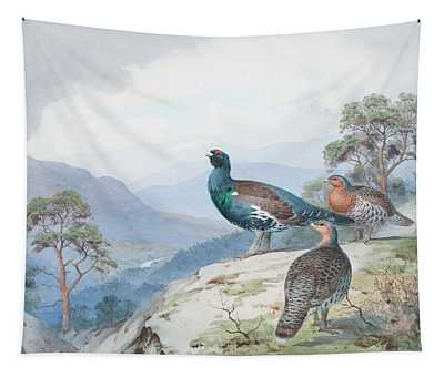 Above The Forest, Capercaillie And Grouse Tapestry