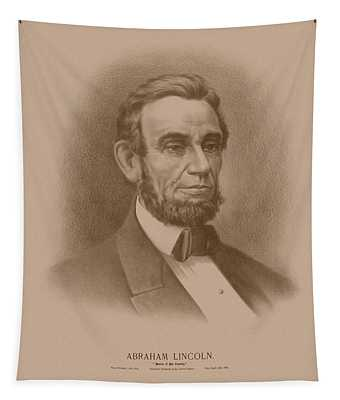 Abraham Lincoln - Savior Of His Country Tapestry