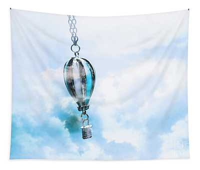 Abstract Air Baloon Hanging On Chain Tapestry