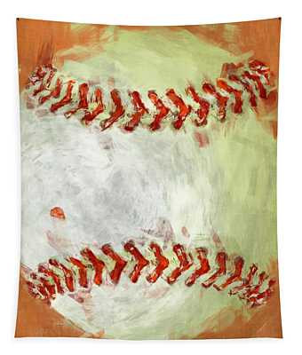 Abstract Baseball Tapestry