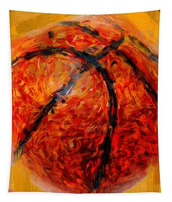 Abstract Basketball Tapestry