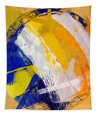 Abstract Beach Volleyball Tapestry