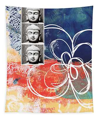 Religious Mixed Media Wall Tapestries