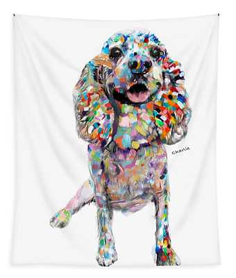 Abstract Cocker Spaniel Tapestry