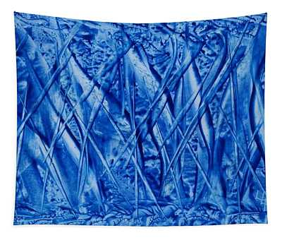 Abstract Encaustic Blues Tapestry