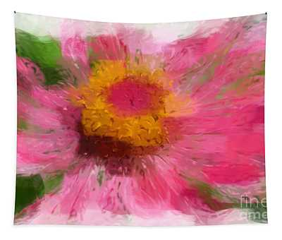 Abstract Flower Expressions Tapestry