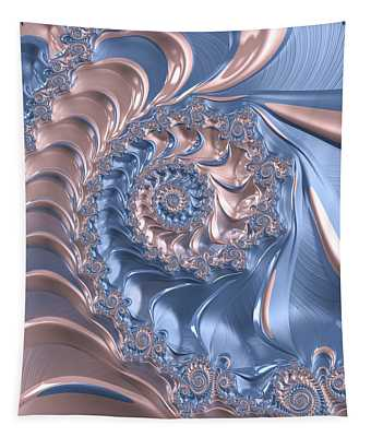 Abstract Fractal Art Rose Quartz And Serenity  Tapestry