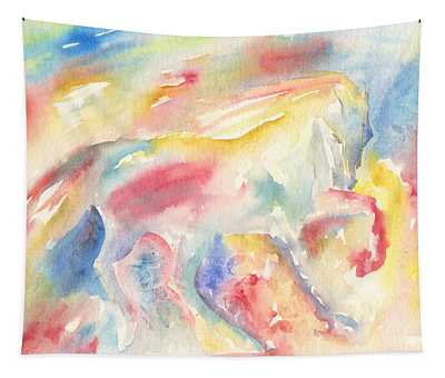Abstract Horse II Tapestry