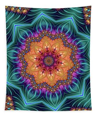Tapestry featuring the digital art Abstract Kaleidoscope Art With Wonderful Colors by Matthias Hauser